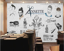Beibehang Custom 3D Europe and the United States hand-painted barber shop wall murals Photo wall wallpaper installed wallpaper(China)