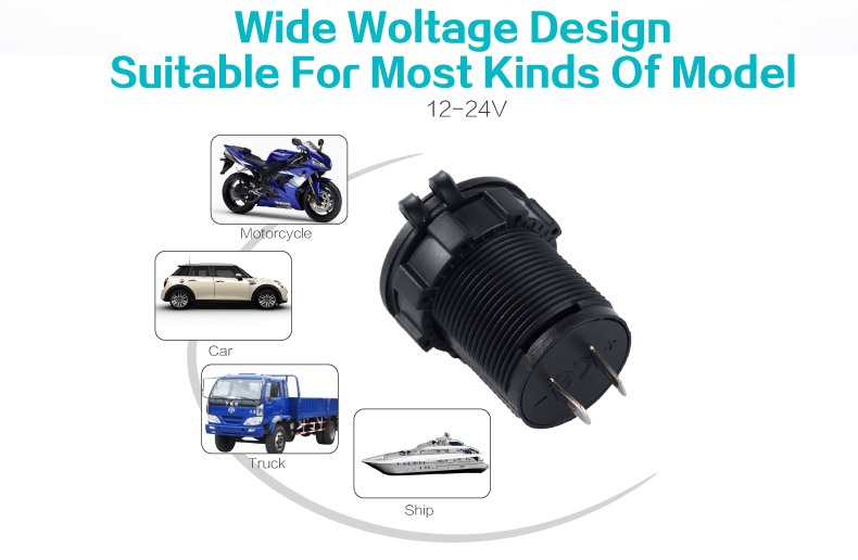 usb car charger with voltage 07