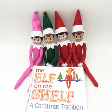 DHL/EMS The Elf On The Shelf: 50pcs Soft Books & 50pcs Elf Plush Dolls Christmas Novelty Toy Kid Xmas Gift Red Green Pink Blue