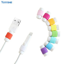 100pcs/lot Fashion USB Data Cable Protector Colorful Cover Earphone Cable protector for Iphone Android mobile phone with opp bag