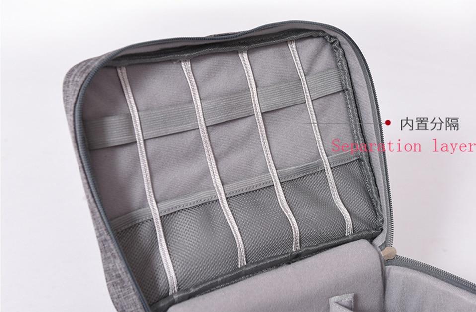 Travel Organizador Portable Digital Accessories Gadget Devices Organizer USB Cable Charger Tote Case Storage Bag Hot Sale (6)