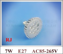 die casting aluminum high quality LED spot light lamp spotlight bulb LED par light parlight E27 AC85-265V 7LED 7W 560lm