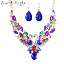 Match-Right Women Maxi Necklaces & Pendants Statement Custome Colorful Swan Necklace With Pendant for Women Cute Jewelry NL-626