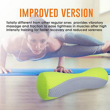 Electric Massage Foam Roller Yoga Balance Exercises Muscle Health Massages Pilates Therapy W Built-in Kneading Massager Gym Tool