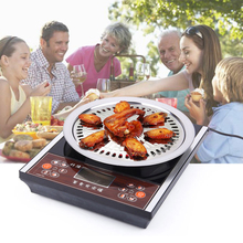 BBQ Grill Rack Stainless Steel Kitchen Barbecue Pan Non-stick Grill Pan Indoor Outdoor Nonstick Roasting Tray(China)