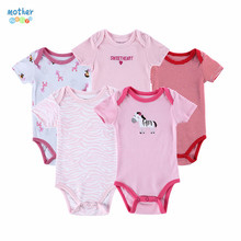 Mother Nest Mother Nest  Fashion 5Pcs/lot Baby Romper Girl Boy Next Baby Clothing cartoon Printed Newborn Cotton Baby Clothes