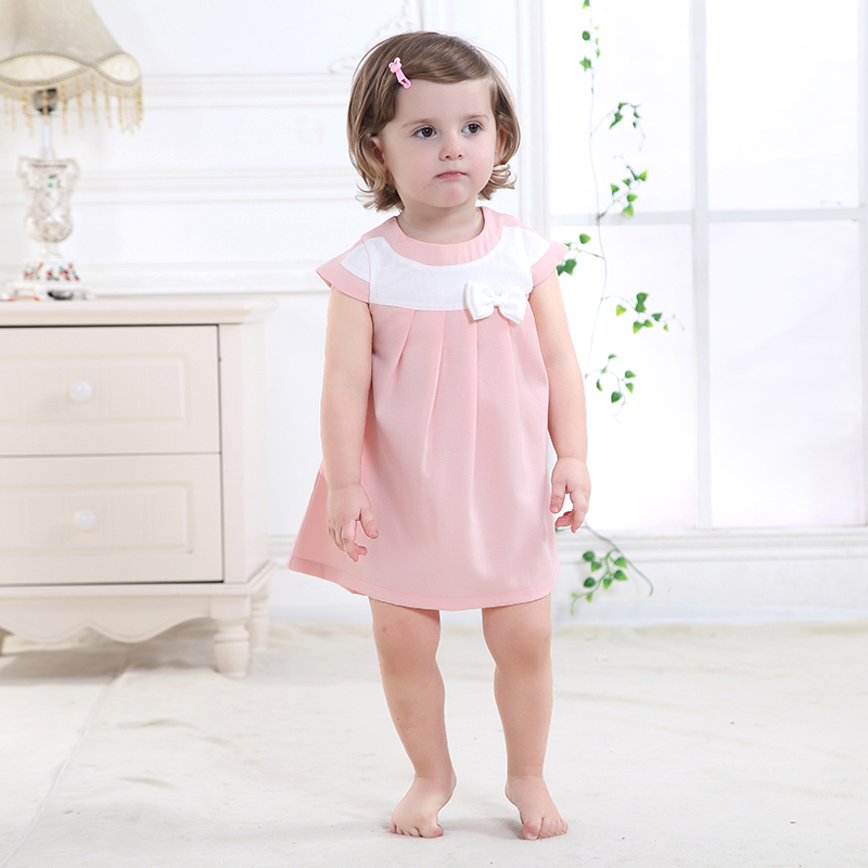 Super Deal 100% Polyester Summer Newborn Baby Dress Cartoon Baby Girl Bow Candy Color Princess Dress <br><br>Aliexpress