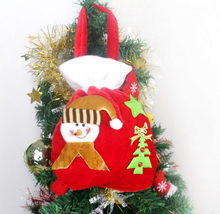 K15347 Christmas Ornament Santa Claus Gold Velvet Gift Bags Family Party Daily Supplies New Year Christmas decoration supplies