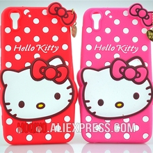 For HTC Desire Eye Case 3D Lovely Cute Hello Kitty Kt Cat Silicon Back Case Soft Cover Phone Case