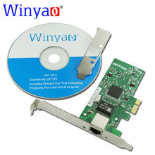 Winyao WY573T PCI-E X1 RJ45 Gigabit Ethernet network card Adapter NIC 10/100/1000M for Intel 82573 1G Lan