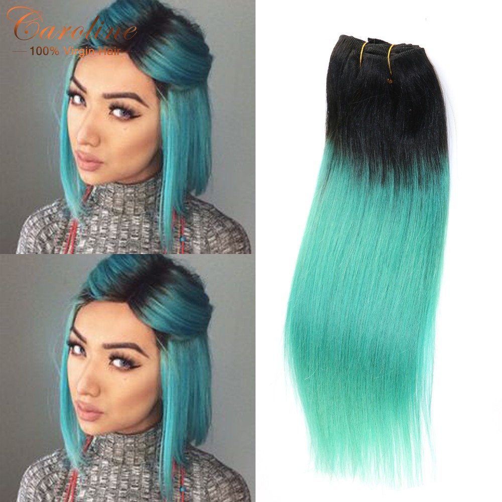 1Pc Ombre Green Brazilian Human Hair Extensions Body Wave 100g Remy Ombre Hair Bundles<br><br>Aliexpress