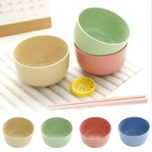 1pc Wheat Straw Bowl Cooking Bowls Creative Home Dessert Student Tableware Soup Chopsticks Health #15(China)