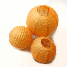 10pcs/lot 6/8/10/12/14/16 inch Orange lampion Kids Birthday Party Decorations Chinese Paper Lanterns Wedding Decoration Supplies(China)
