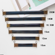 KISSSDIY 30PCS 10 / 12 / 15 / 16.5 / 18 / 20CM Metal Internal Flex purse Frame with Loops,Accessories Bag Flex Spring Clasp(China)