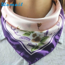 Hot Satin Silk Square Scarf Women Fashion Four Seasons Shawl Changeable Silk Satin Scarves MAY 25