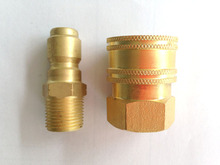 "4000PSI 3/8"" NPT male and female Brass Adapter Quick disconnects(China)"