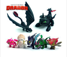 2016 7 Pcs How To Train Your Dragon Mini Figure Night Fury Toothless Baby Toys Kids Action Figure Toys Robot Action Figure Toys