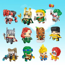 LOZ Mini Blocks Heads Figure Blocks toys Intelligence Models Building Christmas cute Toys For Children DIY gift(China)
