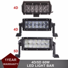 60W Offroad LED Work Light Bar 12V 24V Car Auto SUV Truck ATV Trailer Wagon Pickup Tractor Boat 4X4 Driving Fog Lamp Headlight