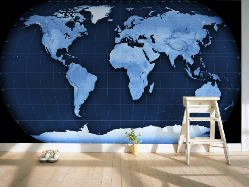 Custom 3d mural wallpaper custom 3D stereo world map wallpaper mural sitting room sofa wall TV backdrop children room wallpaper<br>