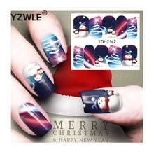 YZWLE 1 Sheet Christmas Design DIY Decals Nails Art Water Transfer Printing Stickers Accessories For Manicure Salon (YZW-2142)(China)