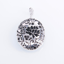 925 Sterling Silver Oval Pattern Collection Box TS Glam Pendants Fit Necklaces, Bijoux Thomas Style Soul Jewelry for Women Men(China)