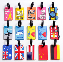 Free Shipping Hot Sale 3D Luggage Baggage Tag, PVC Suitcase Bag Tag Checks Label Seat Number Mixproof Security