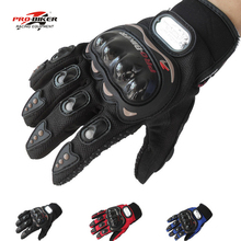 Pro-biker gloves men full finger motorcycle mesh gloves motocicleta racing motorcycle summer luvas motocross guantes  M L XL XXL