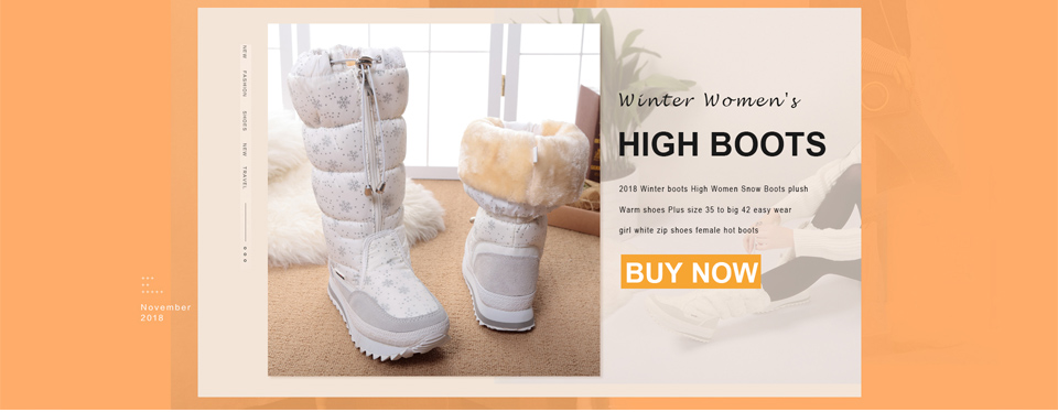Buffie Winter fur boots fashion warm shoes boys girls black boots waterproof brand style nice looking  female women's snow boots