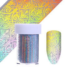 4*100cm Holographic Nail Foil Starry Sky Paper Classical European Holo Nail Art Transfer Sticker Manicure Sticker Decal(China)