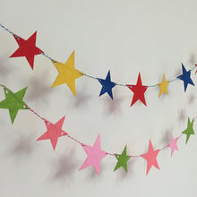 3m 9 Flag Colorful Star Banner Pennant Garland Kids Baby Shower Birthday Party Bunting Festival Decoration Take Photo Tools Gift
