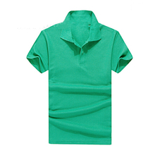 Hot Selling Solid Polo Shirt T-shirt Men and Women Unisex Short Sleeve T-shirt Lapel Nightwear T-shirt Advertising Clothing