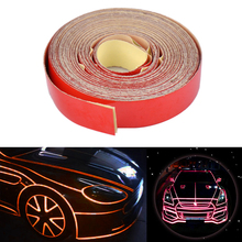 DWCX New Car Motorcycles Bicycles Truck Body DIY Self Adhesive Decal 5 Meter x 1cm Reflective Sheeting Stripe Sticker Tape(China)