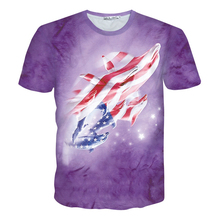 Spring summer new 3D T shirt  American flag dolphin printed short-sleeved T-shirts for men/women casual tops tees free shipping