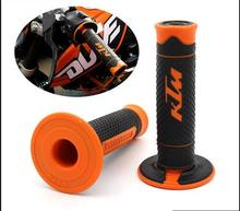 "Orange KTM Handle Grip Motorcycle High Quality Dirt Pit Bike Motocross 7/8"" Handlebar Rubber Gel PRO Hand Grips Brake Hands CRF"