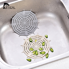 FHEAL Creative Spider Web Shape Kitchen Sink Filter Bathroom Washbasin Bathtub Sewer Strainers Anti-blocking Floor Drain Cover(China)