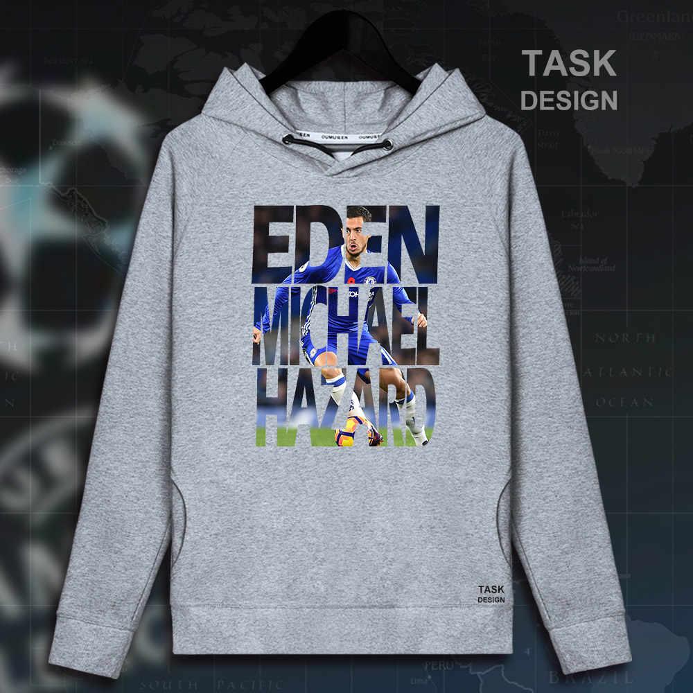 5eb2fb3e Eden Hazard Для мужчин пуловеры толстовки Костюмы Уличная спортивный костюм  Повседневная Бельгии футболист Челси звезда 2018