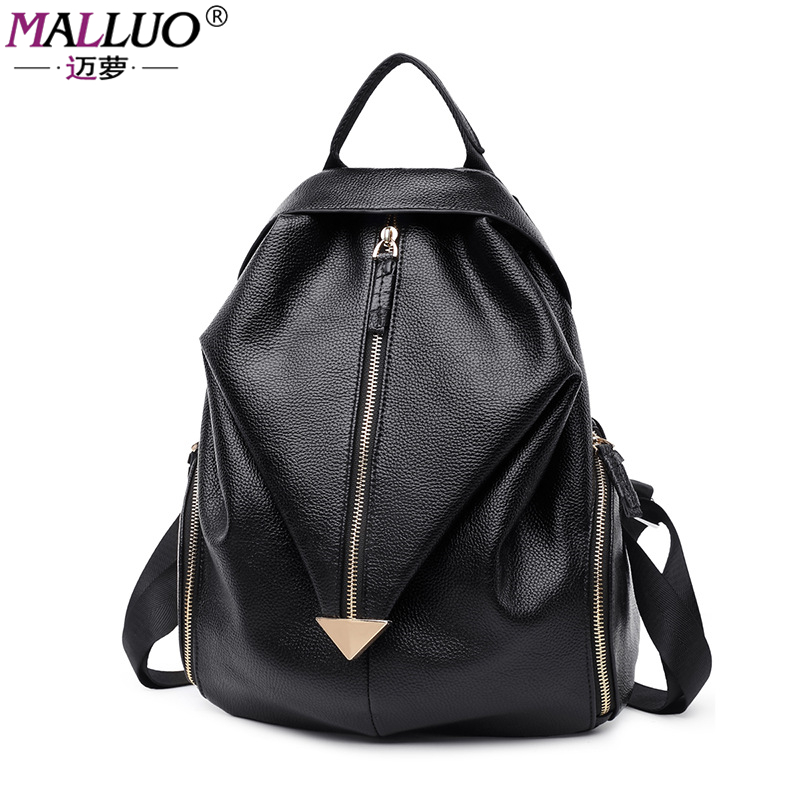 MALLUO Women Backpacks Genuine School Bag Student Backpack Ladies Women Bags Leather Package Female New Arrive Preppy Style Tote<br><br>Aliexpress