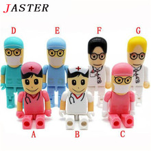 JASTER Doctors USB stick nurses memory stick Lovely pendrive cartoon usb flash drive 8GB 16GB pen drive 16G flash card