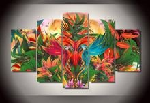 5 Pcs Canvas Painting HD Printed Jungle Abstract Group Modular Pictures Unframed Home Decor Wall Pictures For Living Room Poster