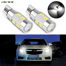 2pcs T10 W5W Canbus No Error 10 SMD 5630 LED Light Wedge Bulb High Power LED Car Parking Fog Light Auto Clearance Light 12V