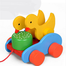 Ducks Pecking Mira Car Wooden Early Educational Toys baby toys for accompany montessori educational toy