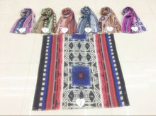 2016the new hot sell TR cotton multicolor Nations wind fashion printed scarf comfortable Muslim headscarves Independent packing