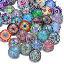 50pcs/lot Series KZHM Many Themes Styles Mixed Pattern Multi Color 18mm Glass Snap Button For DIY Snaps Jewelry(China)
