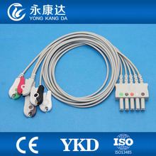 ECG monitor leads,5-lead / AHA / Clip ecg trunk cable,CE&ISO13485 Approved(China)