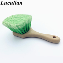 Special Design Feathered Split End Super Soft Hair Scratch-Free Short Handle Wheel/Tire Brush(China)