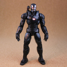 17cm/6.5in War Machine Action Figure Captain America Civil War Uniform Marvel Superhero Toy Model Black Iron Man Free shipping