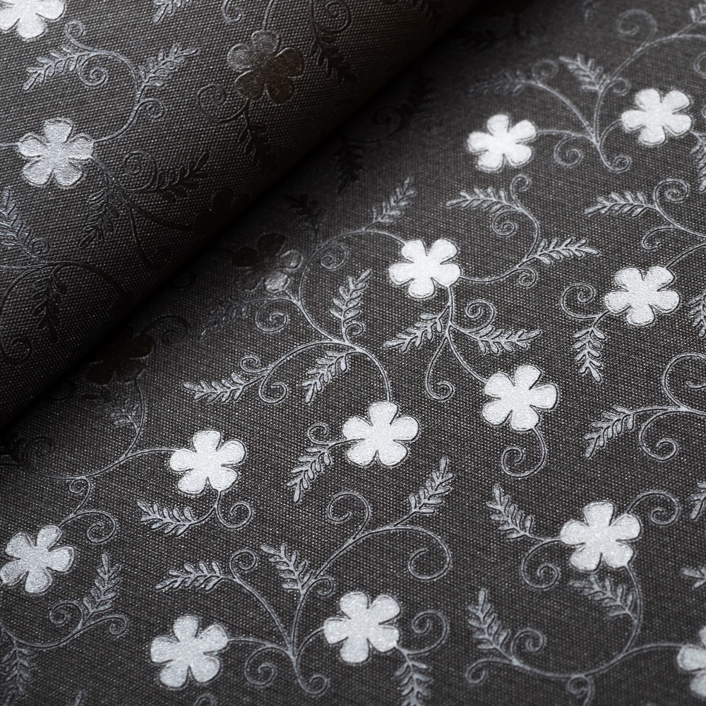 Plain Textured Small Flower Solid Color Vinyl PVC Wallpaper Champange Beige Black White Floral Wall Paper For Girl Bedroom Decor<br>