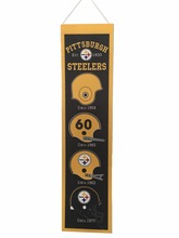 2017 Hot Sale Pittsburgh Steelers Football Felt Flag 20x80cm Football Decoration Felt banner Wholesale(China)