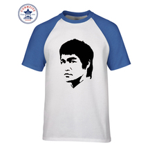 2017 Hot Selling Funny Movie Star Bruce Lee Cotton T Shirt for men(China)